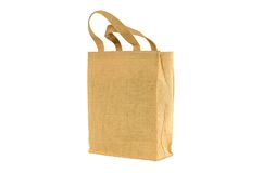 Shopping bag made out of recycled  sack Royalty Free Stock Photography