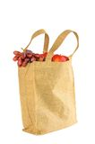 Shopping bag made out of recycled  sack Stock Image