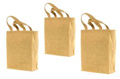 Shopping bag made out of recycled  sack Stock Photo