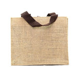 Shopping bag made out of recycled sack Royalty Free Stock Images