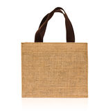 Shopping bag made out of sack Royalty Free Stock Image