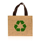 Shopping bag made out of sack Stock Photography