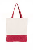 Shopping bag made with woven fabric Stock Photos