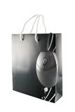 Shopping bag and mouse Royalty Free Stock Photography
