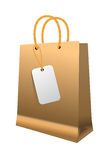 Shopping bag with paper handles Stock Photography