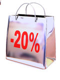 Shopping bag with percent Stock Photos