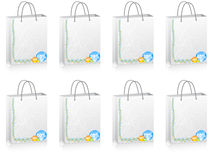 Shopping bag with percent discount. Shopping bag with different percent discount Royalty Free Stock Images