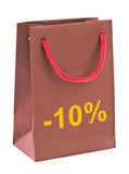 Shopping bag 10 percent Royalty Free Stock Image
