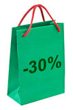 Shopping bag 30 percent Stock Photos