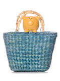 Shopping bag with piggy bank Stock Photo
