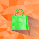 Shopping Bag Polygon Style Design Shadow Vector Stock Photos