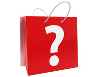 Shopping bag with question mark Stock Photos