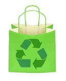 Shopping bag with recycle symbol Royalty Free Stock Image