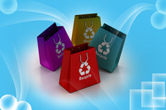 Shopping bag with recycle symbol Stock Photo