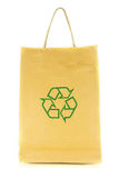 Shopping bag with recycle symbol isolated on white background. Set lighting Royalty Free Stock Photo