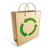 Shopping bag recycling Royalty Free Stock Photography
