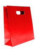 Shopping bag, red color Royalty Free Stock Images