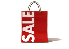 Shopping Bag Red Sale Front Stock Photos