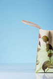 Shopping Bag. Reusable shopping bag on blue background. Enter your text Stock Photography