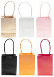 Shopping Bag Sack Set in Colors Stock Photography