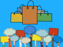 Shopping Bag Sale Capitalism Shopaholic Concept Stock Image