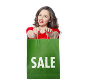 Shopping bag on sale Royalty Free Stock Photo