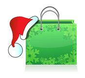 Shopping bag with Santa Stock Photography
