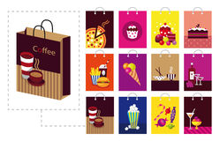 Shopping bag set Stock Photo