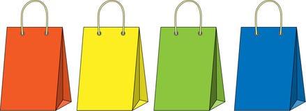 Shopping bag set Royalty Free Stock Photo