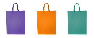 Shopping bag set in block colors Royalty Free Stock Photography