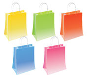 Shopping bag. A set of illustrated colored shopping bags Vector Illustration