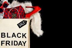 Shopping bag from shopping mall. Fashion black friday holiday royalty free stock image