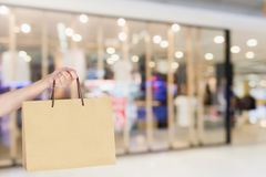 Shopping bag in shopping mall Stock Images
