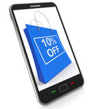 Shopping Bag Shows Sale Discount Ten Percent Off 10 Stock Photos