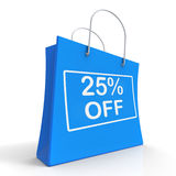 Shopping Bag Shows Sale Discount Twenty Five Percent Stock Image