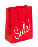 Shopping bag signed sale isolated with clipping path Stock Photo