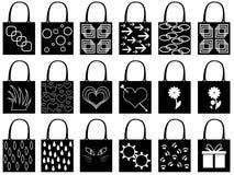 Shopping bag silhouette Royalty Free Stock Photos