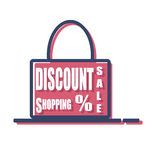 Shopping bag. Simple sale shopping bag design Royalty Free Stock Photo