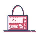 Shopping bag. Simple sale shopping bag design vector illustration