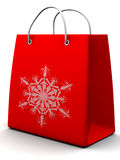 Shopping bag with snowflake Stock Image