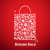Shopping bag for Spring Sale Royalty Free Stock Images