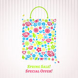 Shopping bag for Spring Sale Royalty Free Stock Photography