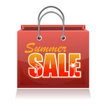 Shopping bag. Summer sale. Royalty Free Stock Photography