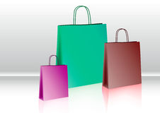 Shopping bag. For summer sales on the table Royalty Free Stock Photo