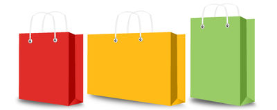 Shopping bag and tag Royalty Free Stock Photos