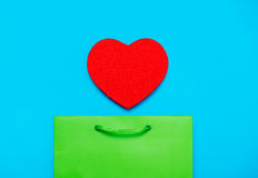 Shopping bag and toy Stock Image