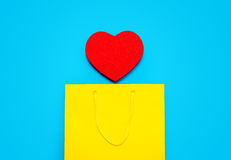 Shopping bag and toy Royalty Free Stock Photo
