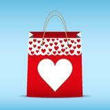 Shopping bag for Valentine's day Stock Photo