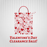 Shopping bag for Valentines day Stock Photography