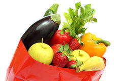 Shopping bag with vegetables Royalty Free Stock Images